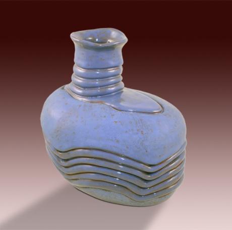 Organic vessel 01. Earthenware, handbuilt (coil)