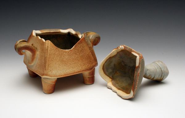 Wood fired Ceramic box (2/2)